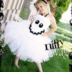 Boutique Ghost Corset Tutu Halloween Costume